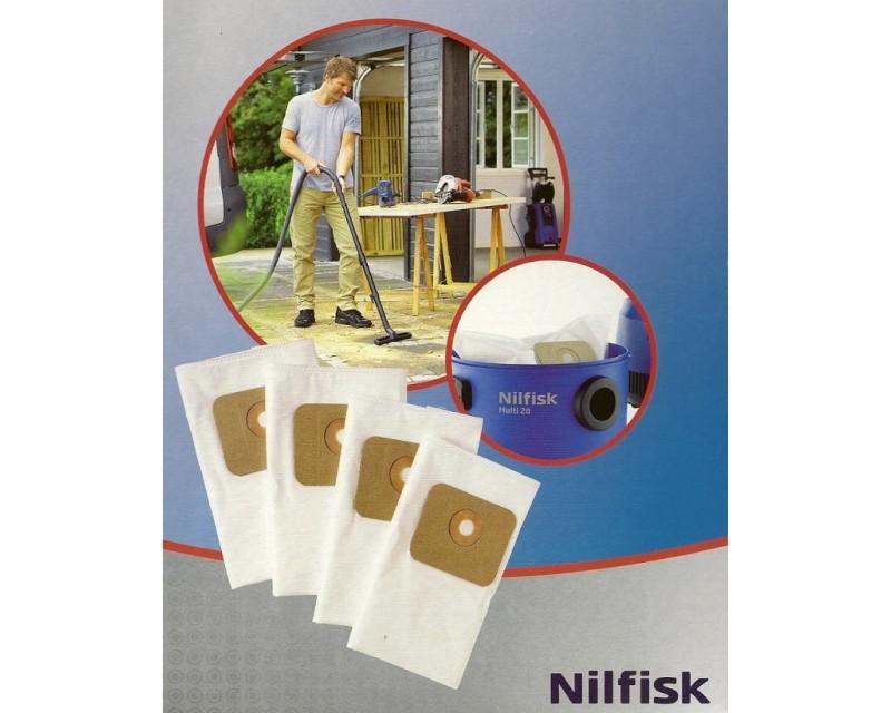 Set 4 filtri a sacchetto per aspirapolvere NILFISK MULTI